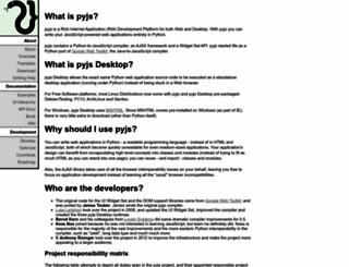 pyjs.org screenshot