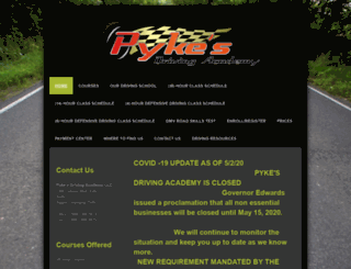 pykesdrivingacademy.com screenshot
