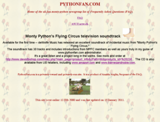 pythonfan.com screenshot