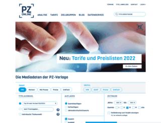 pz-online.de screenshot