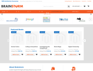 qa-brainstorm.echidnainc.com screenshot