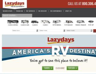 qa2.lazydays.com screenshot