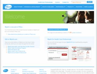 qa2proxies.wyeth.com screenshot