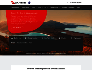 qantas.net.au screenshot