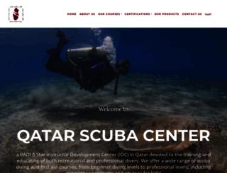 qatarscubacenter.com screenshot