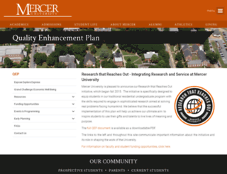 qep.mercer.edu screenshot