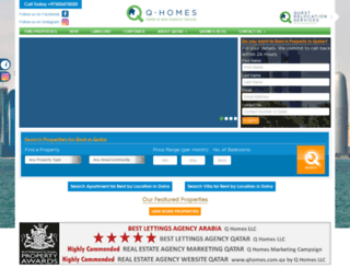 qhomes.com.qa screenshot