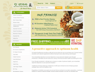 qiherbs.com screenshot