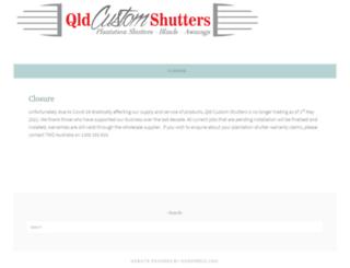 qldcustomshutters.com.au screenshot