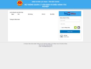 qlvblng.bacgiang.gov.vn screenshot