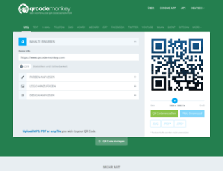 qrcode-monkey.de screenshot