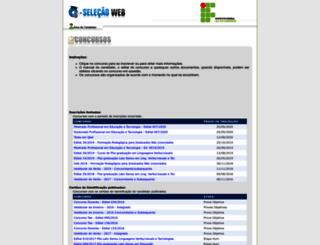 qselecao.ifsul.edu.br screenshot