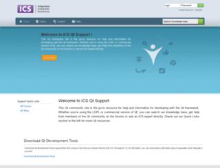 qtsupport.ics.com screenshot