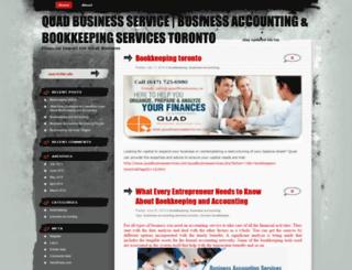 quadbusinessservice.wordpress.com screenshot