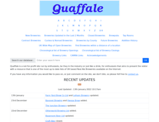 quaffale.org.uk screenshot