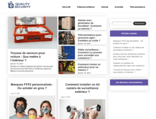 quality-securite.com screenshot
