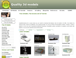 quality3dmodels.net screenshot