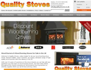 qualitystoves.co.uk screenshot
