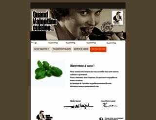 quandvalentinecuisine.com screenshot