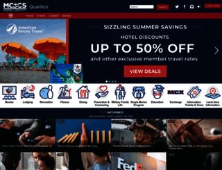 quantico.usmc-mccs.org screenshot