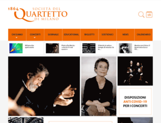 quartettomilano.it screenshot