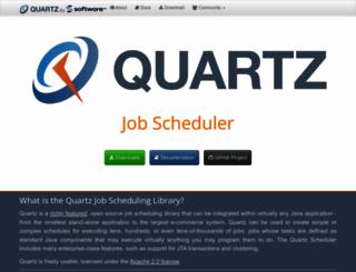 quartz-scheduler.org screenshot