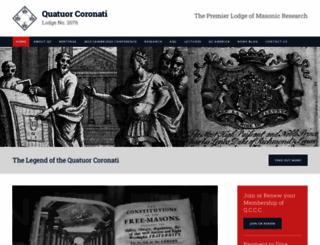 quatuorcoronati.com screenshot