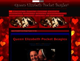 queenelizabethpocketbeagles.com screenshot