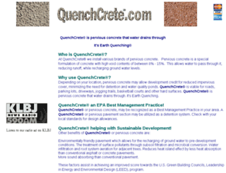 quenchcrete.com screenshot