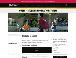 quest.uwaterloo.ca screenshot