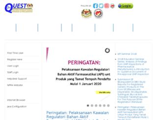 quest3.bpfk.gov.my screenshot