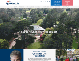 questforlife.com.au screenshot