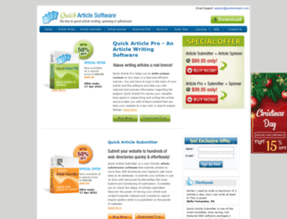 quickarticlepro.com screenshot