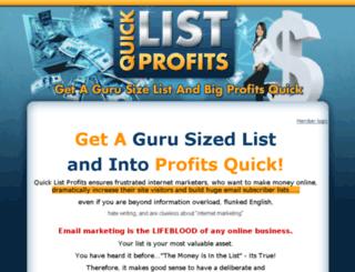 quicklistprofits.com screenshot