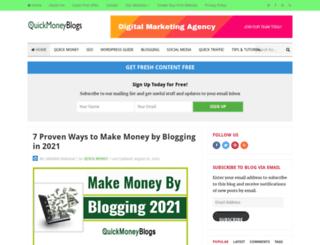 quickmoneyblogs.com screenshot