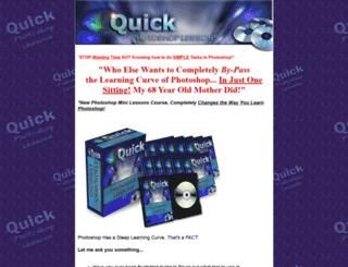 quickphotoshoplessons.com screenshot