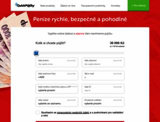 quickpujcky.cz screenshot