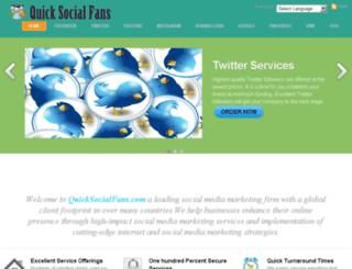 quicksocialfans.com screenshot