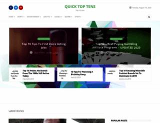 quicktoptens.com screenshot
