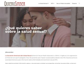 quierosaber.org screenshot