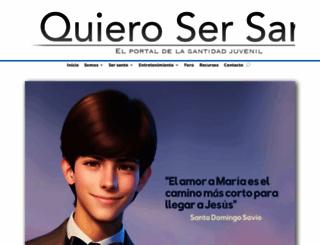 quierosersanto.com screenshot