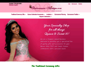 quinceanera-boutique.com screenshot
