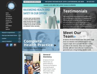 quinceorcharddentalcare.com screenshot
