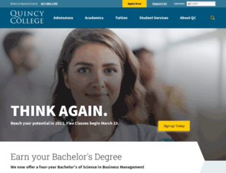 quincycollege.edu screenshot