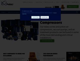 quincycompressor.com screenshot
