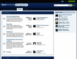quitsmokingmessageboard.com screenshot