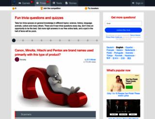 quizzclub.com screenshot