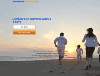 quote.affordable-life-insurance-rates.org screenshot