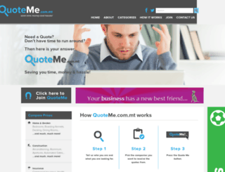 quoteme.com.mt screenshot