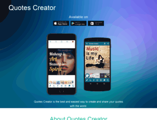 quotescreator.com screenshot
